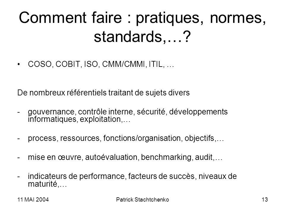 Comment faire : pratiques, normes, standards,…