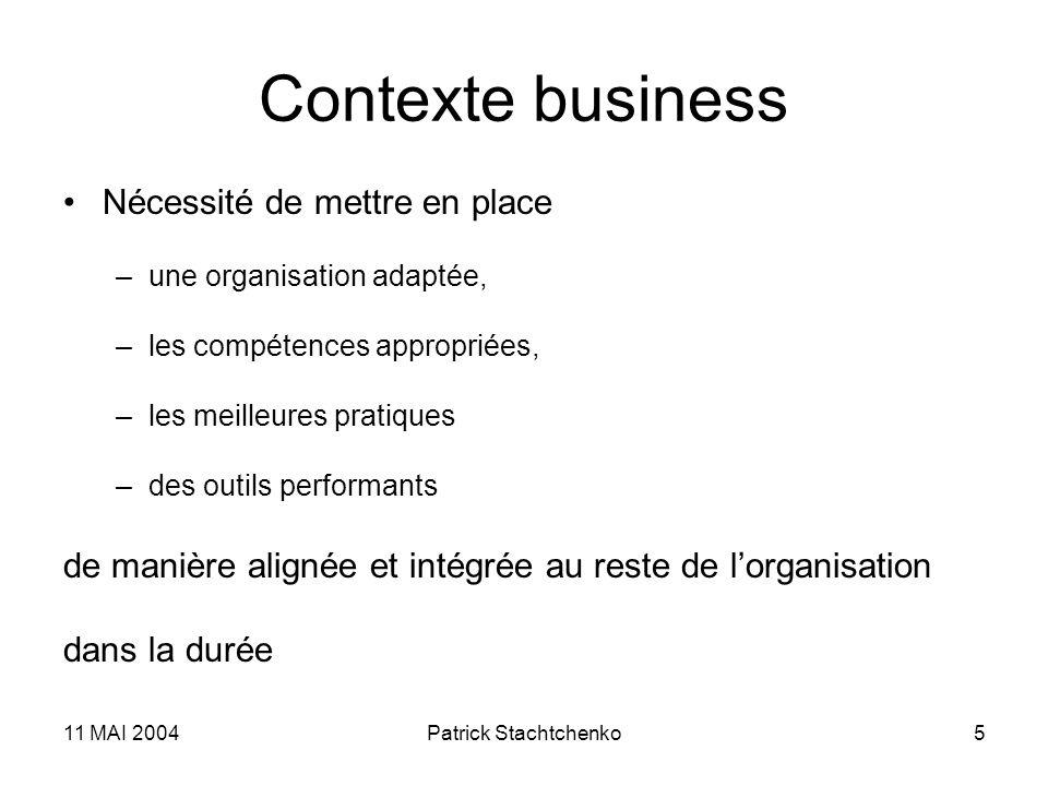 Contexte business Nécessité de mettre en place