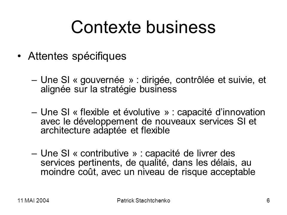 Contexte business Attentes spécifiques