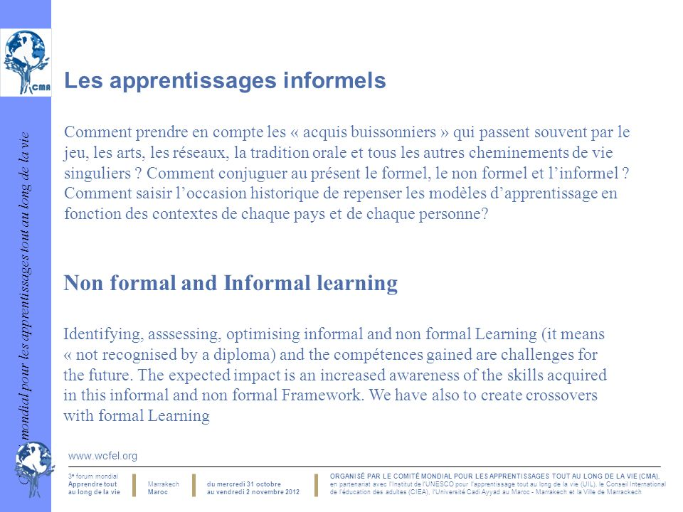 Les apprentissages informels