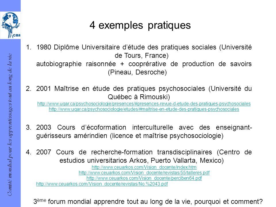 4 exemples pratiques
