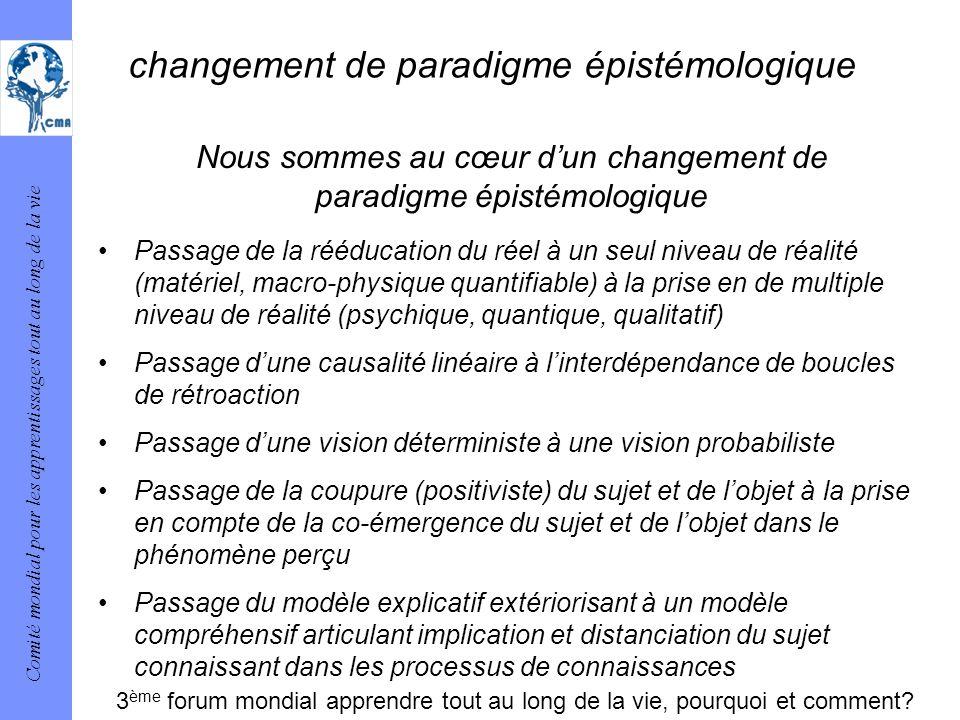 changement de paradigme épistémologique