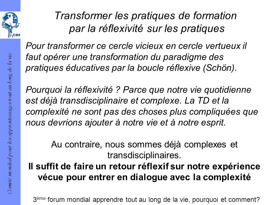 Au contraire, nous sommes déjà complexes et transdisciplinaires.