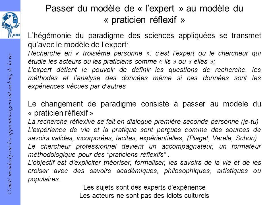 Passer du modèle de « l'expert » au modèle du « praticien réflexif »