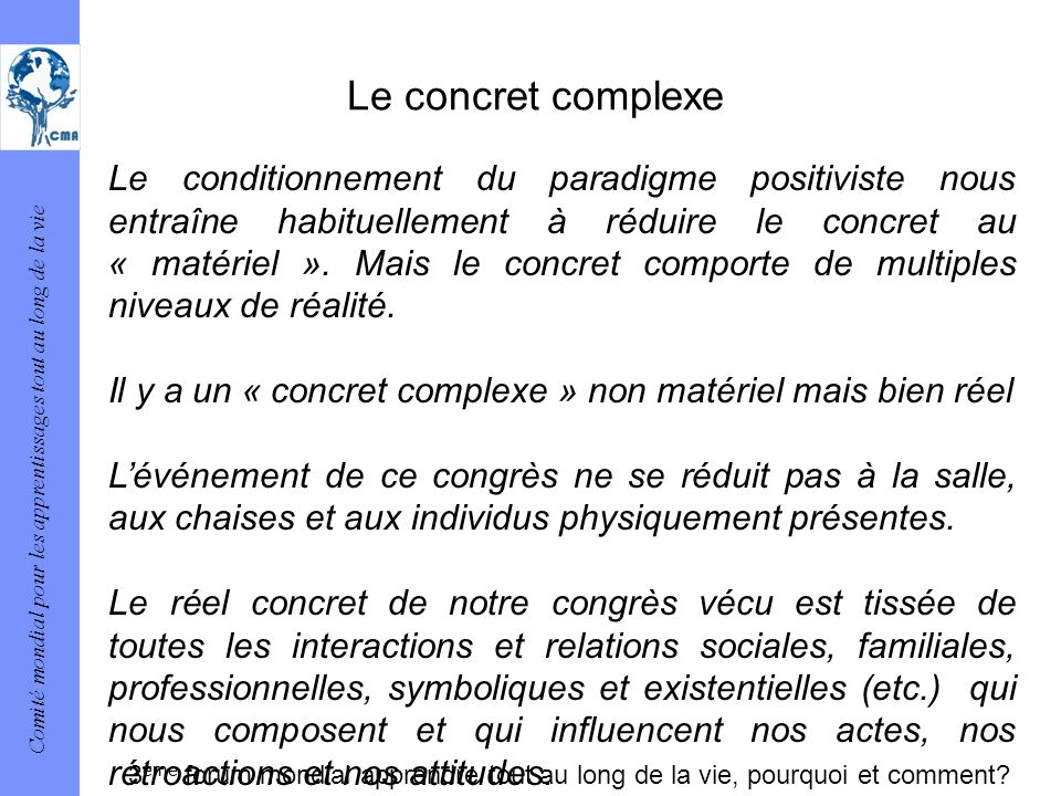 Le concret complexe
