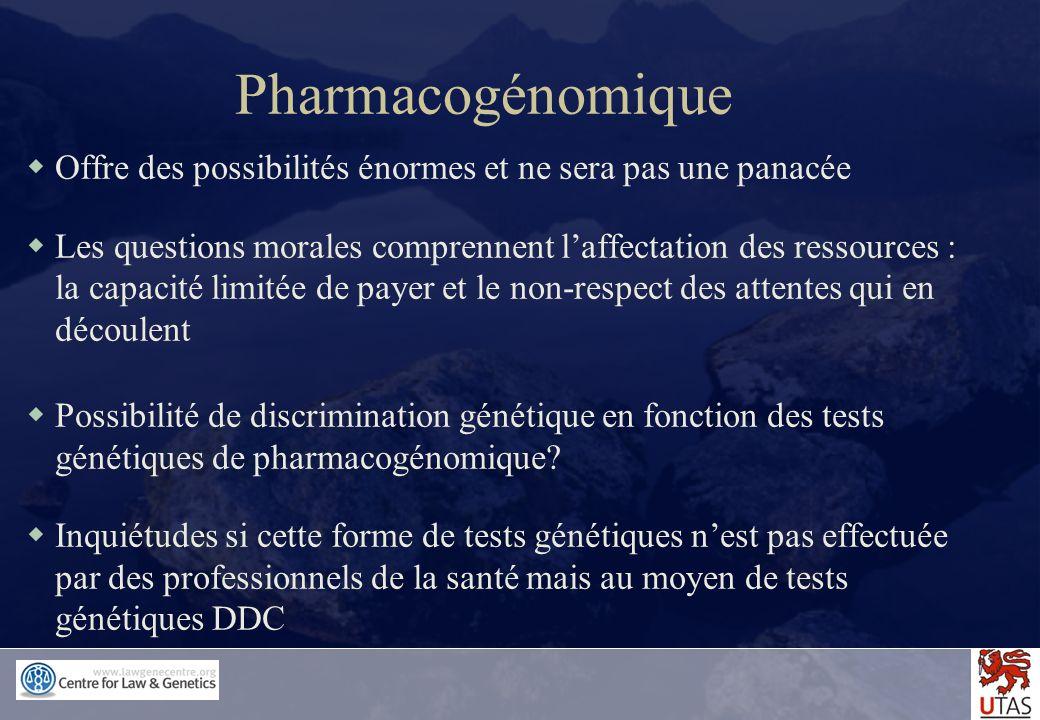 Pharmacogénomique Offre des possibilités énormes et ne sera pas une panacée.