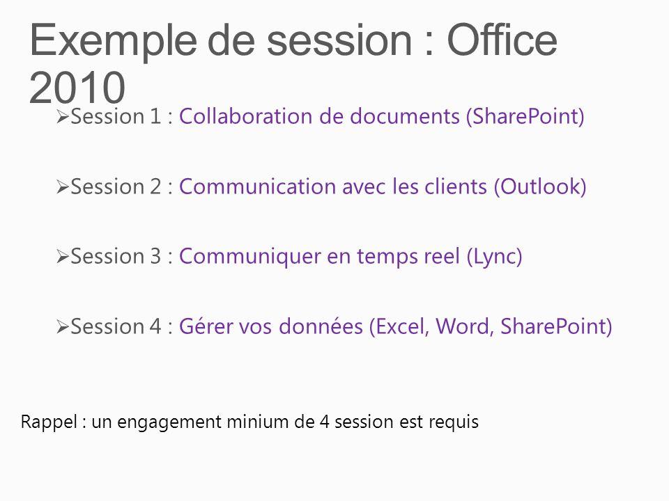Exemple de session : Office 2010
