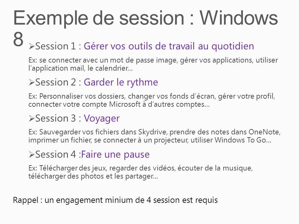 Exemple de session : Windows 8
