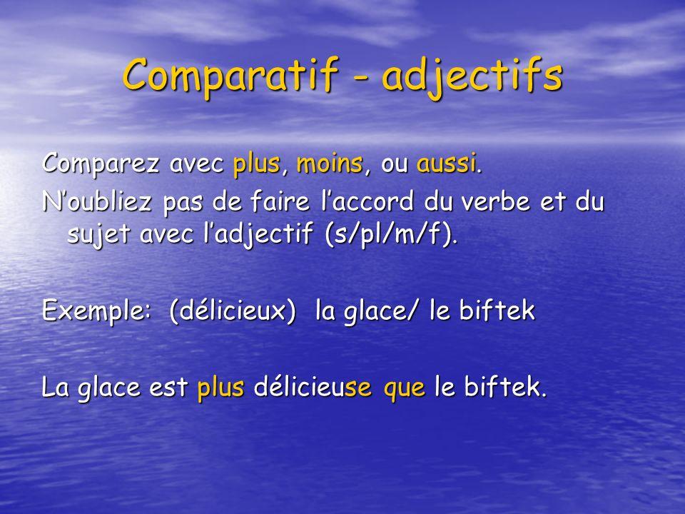 Comparatif - adjectifs