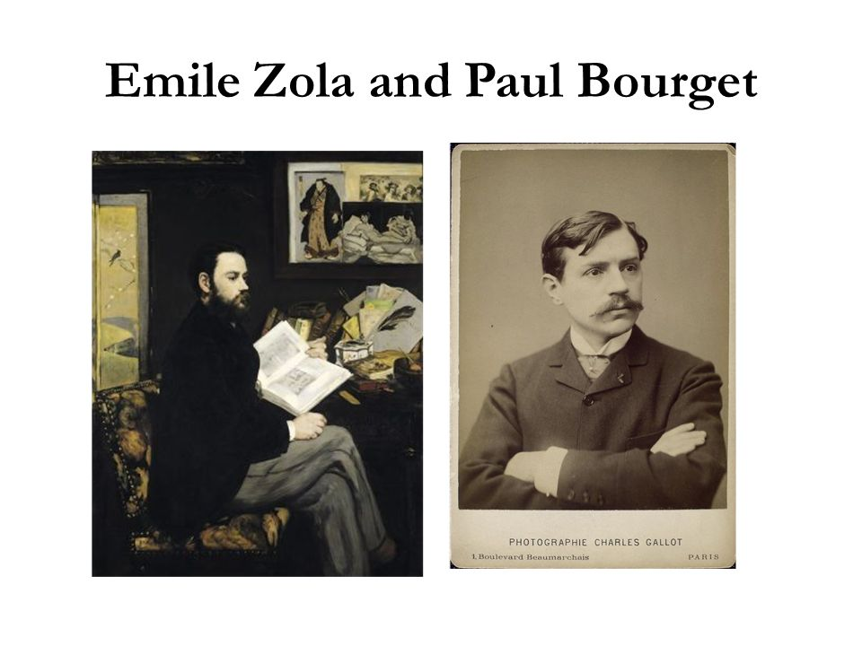 Emile Zola and Paul Bourget