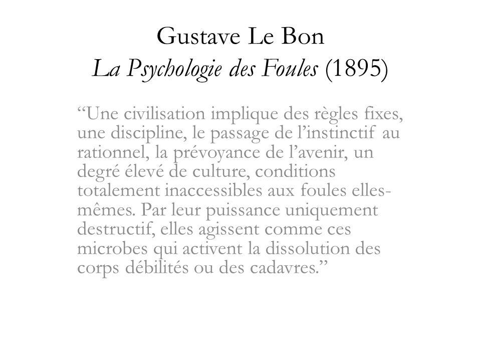 Gustave Le Bon La Psychologie des Foules (1895)