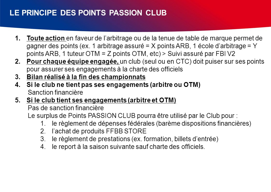 LE PRINCIPE DES POINTS PASSION CLUB