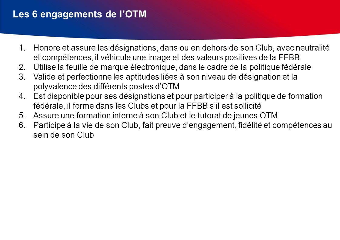Les 6 engagements de l'OTM