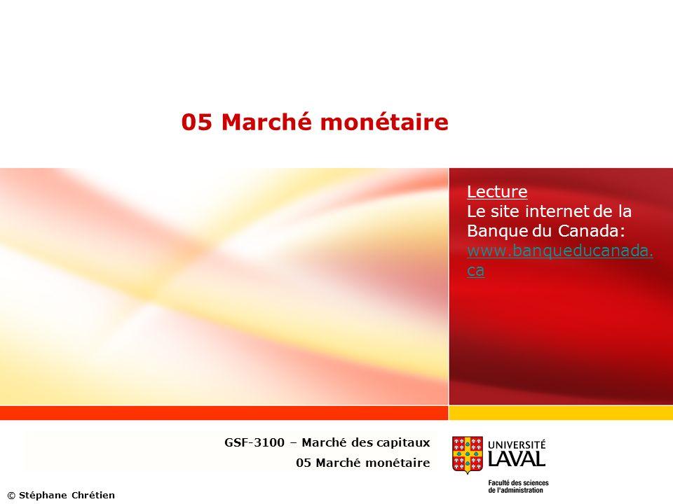 Lecture Le site internet de la Banque du Canada: www.banqueducanada.ca