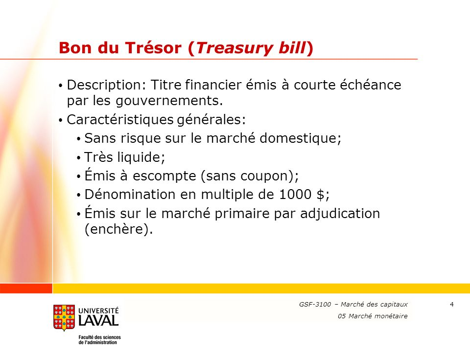 Bon du Trésor (Treasury bill)