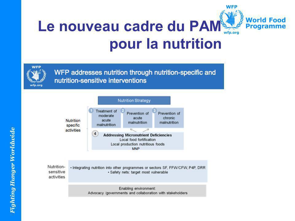 Le nouveau cadre du PAM pour la nutrition