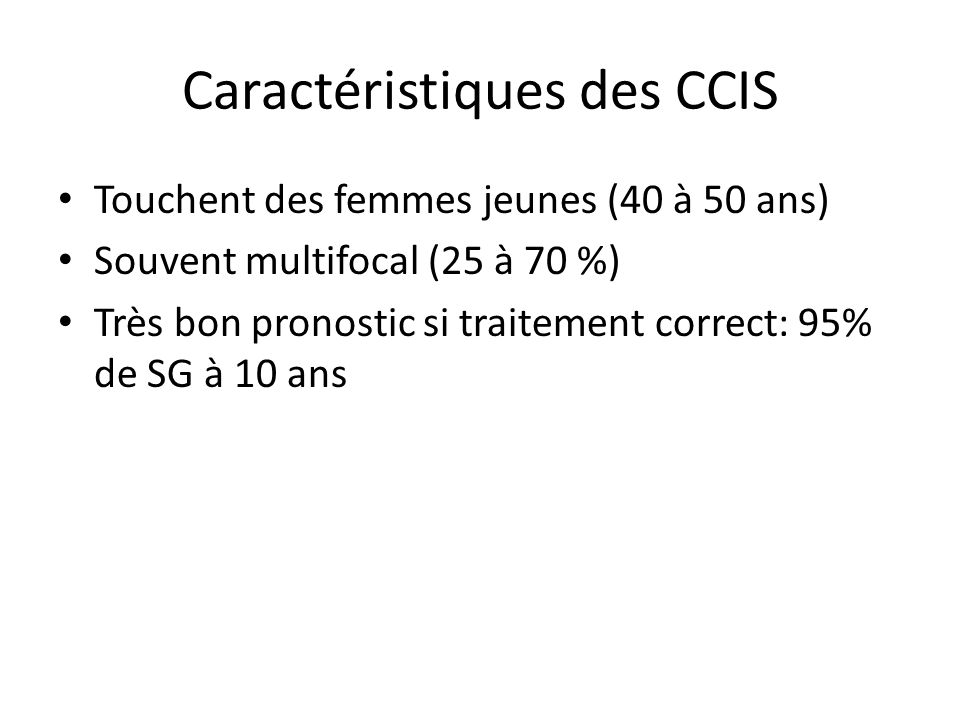 Caractéristiques des CCIS