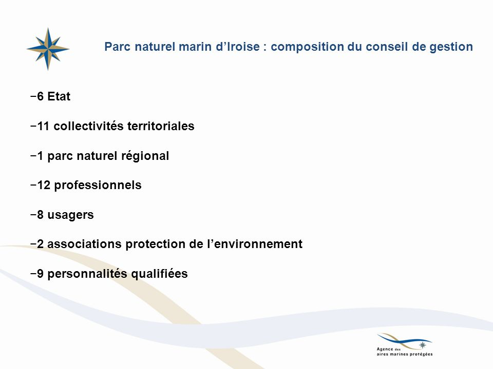 Parc naturel marin d'Iroise : composition du conseil de gestion