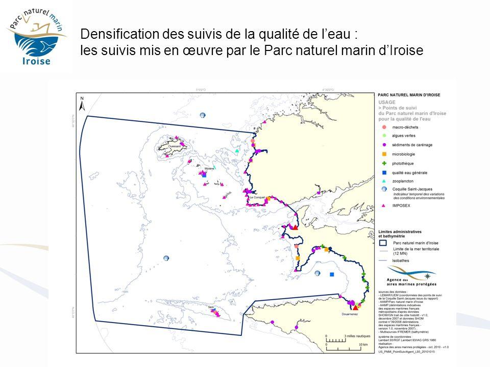Densification des suivis de la qualité de l'eau : les suivis mis en œuvre par le Parc naturel marin d'Iroise