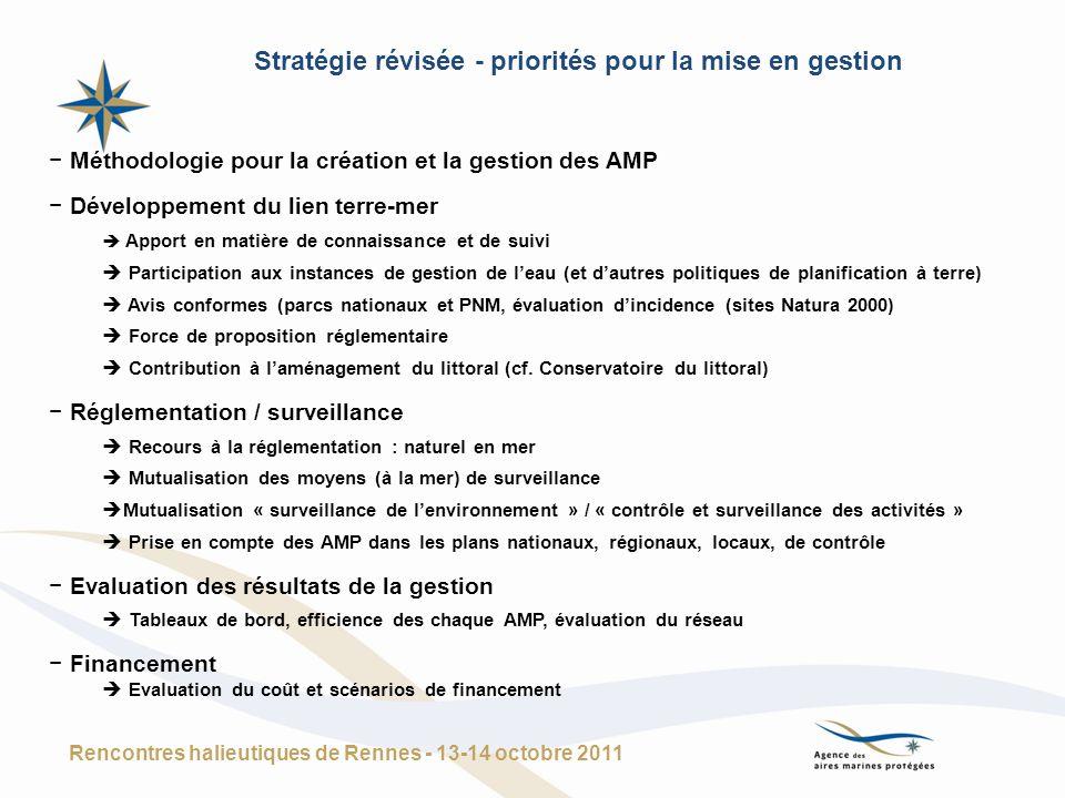 Stratégie révisée - priorités pour la mise en gestion