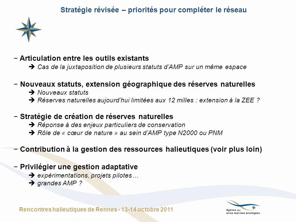 Stratégie révisée – priorités pour compléter le réseau