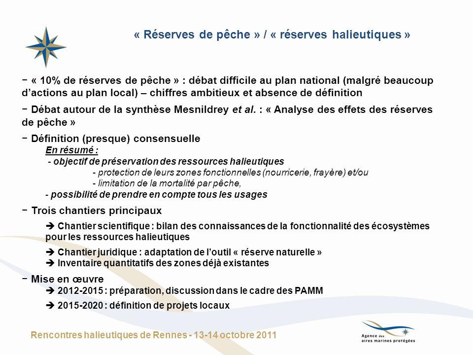 « Réserves de pêche » / « réserves halieutiques »