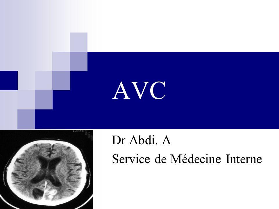 Dr Abdi. A Service de Médecine Interne