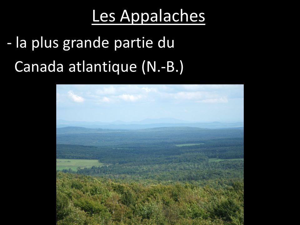 - la plus grande partie du Canada atlantique (N.-B.)