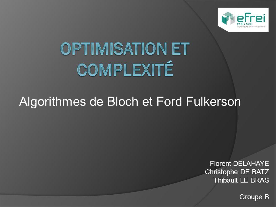 Optimisation et Complexité