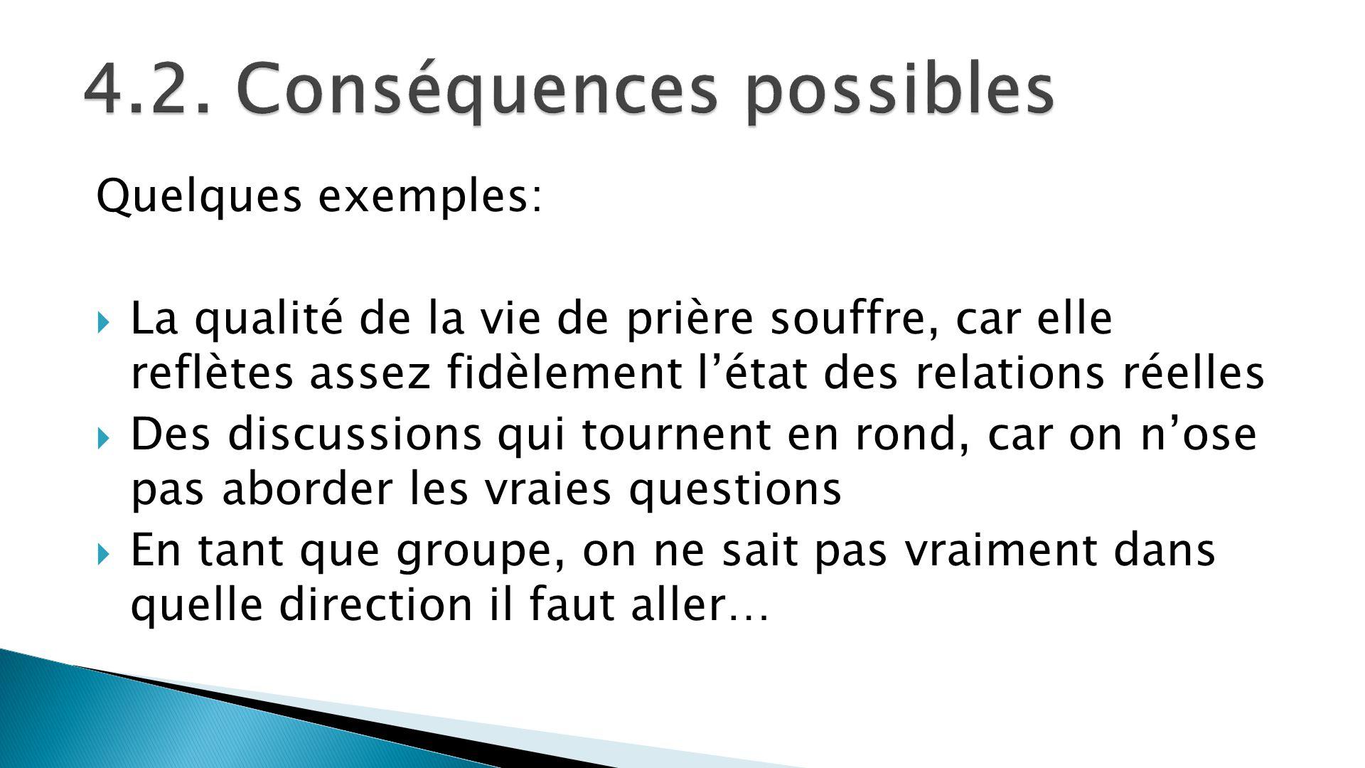 4.2. Conséquences possibles