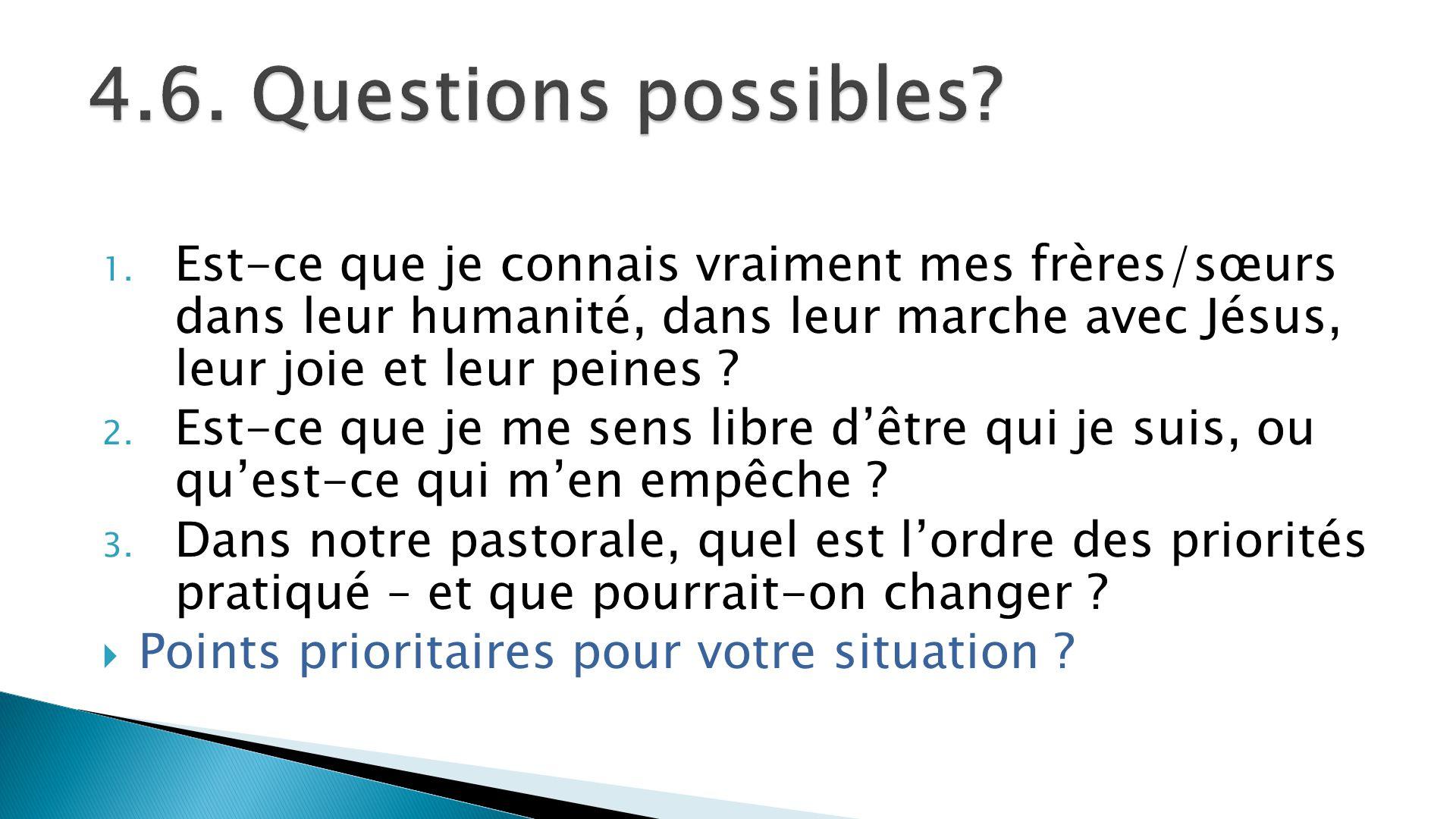4.6. Questions possibles