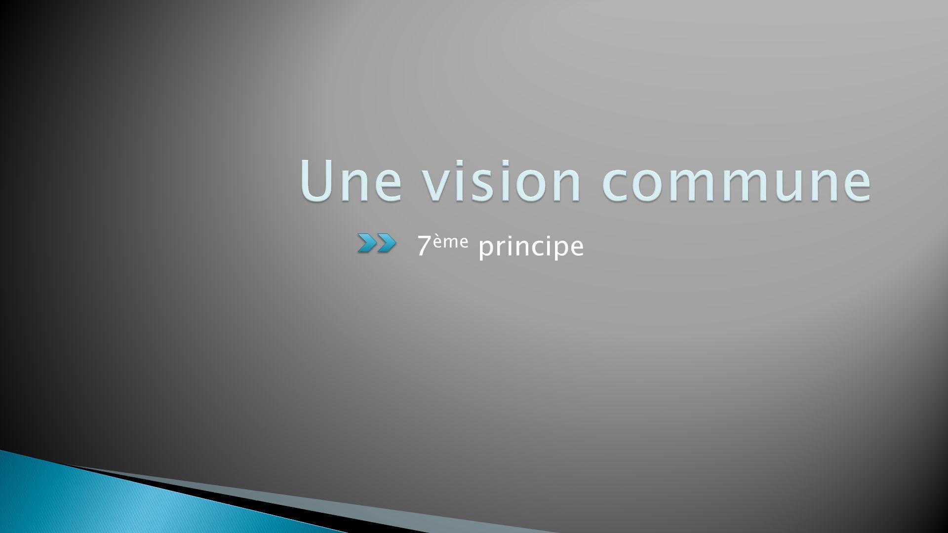 Une vision commune 7ème principe