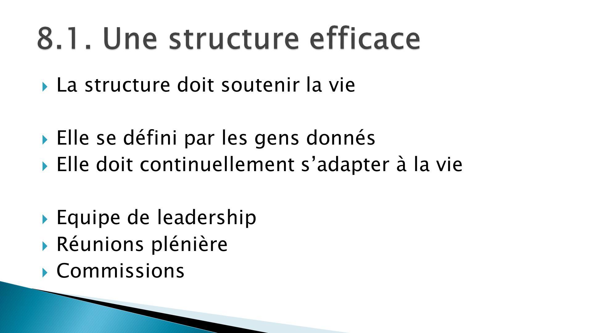 8.1. Une structure efficace