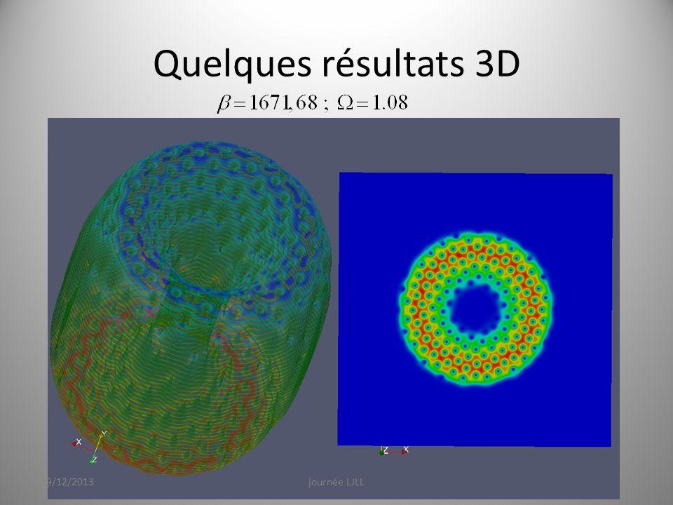 Quelques résultats 3D 19/12/2013 journée LJLL