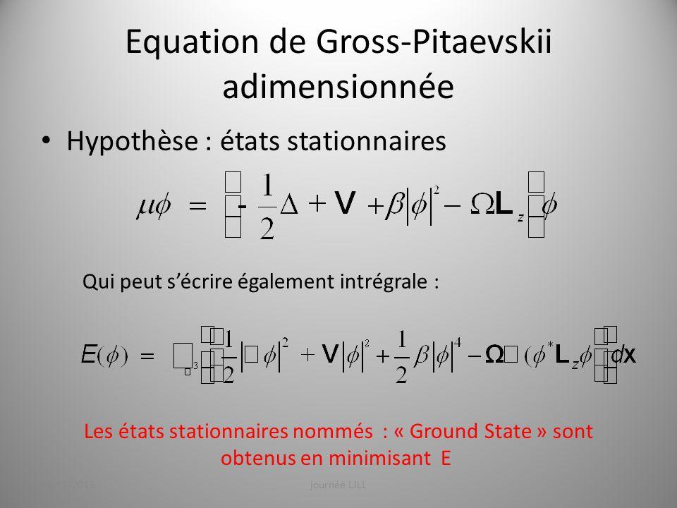 Equation de Gross-Pitaevskii adimensionnée