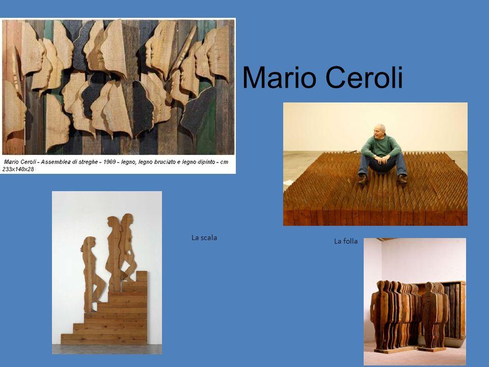 Mario Ceroli La scala La folla