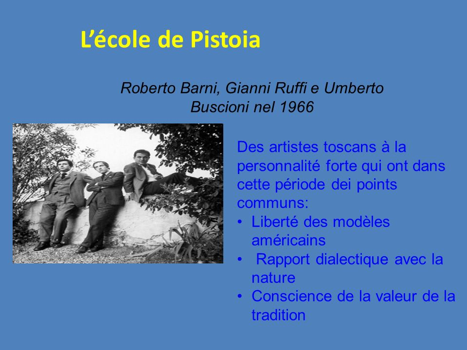 Roberto Barni, Gianni Ruffi e Umberto Buscioni nel 1966