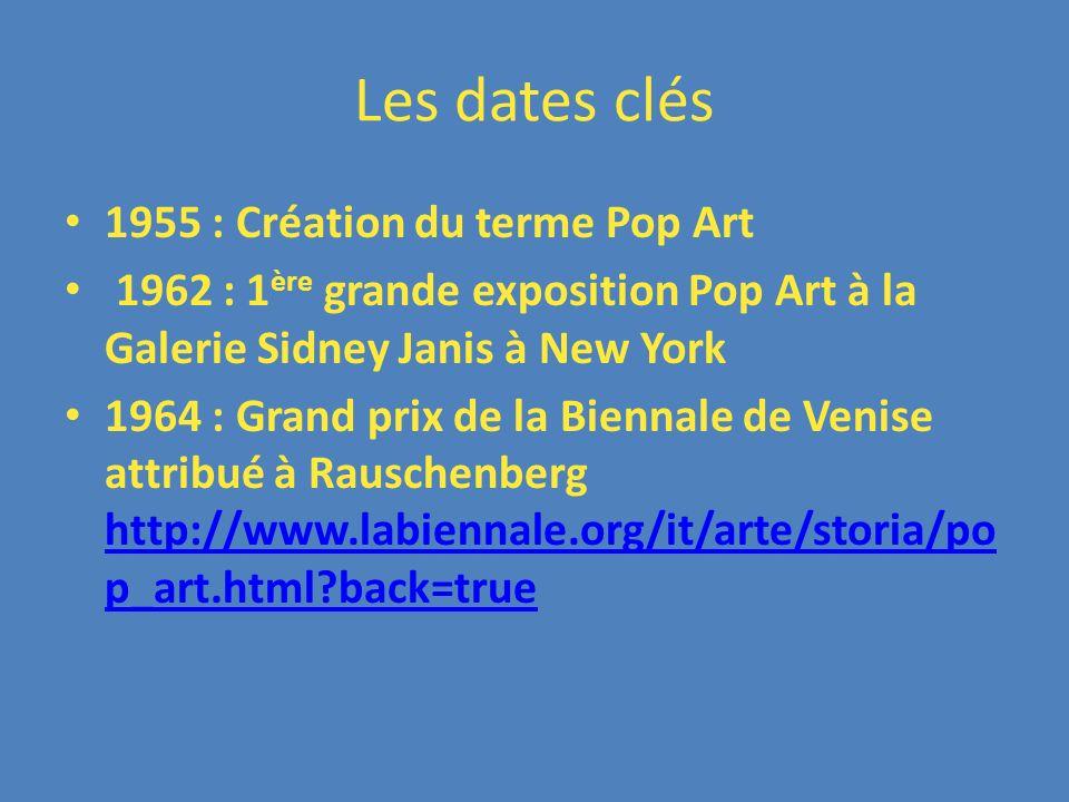 Les dates clés 1955 : Création du terme Pop Art