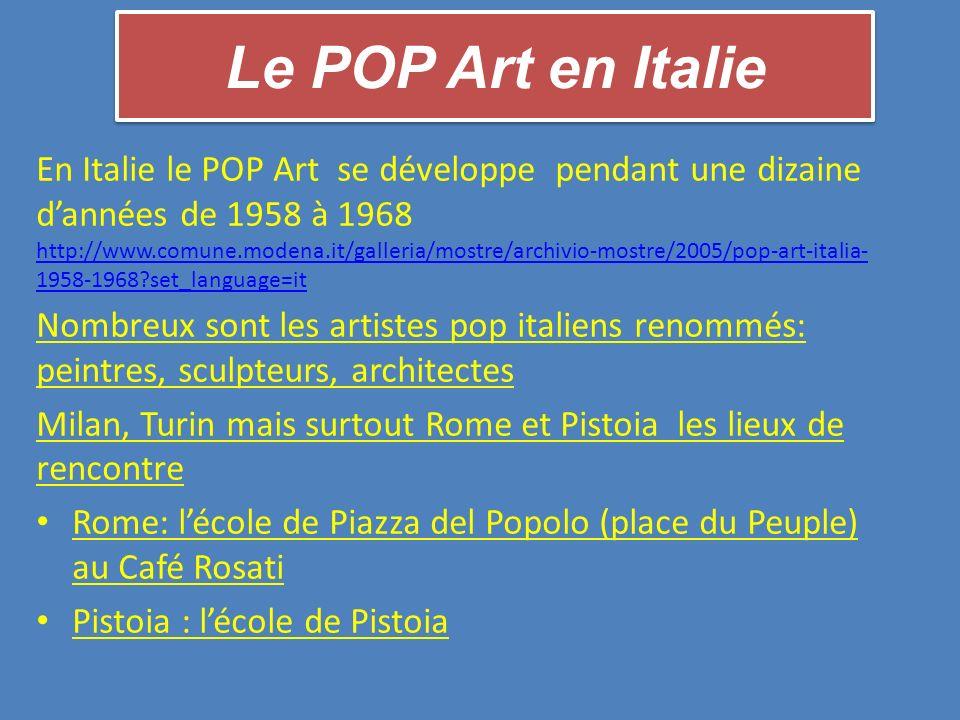 Le POP Art en Italie
