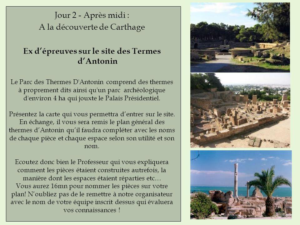 Ex d'épreuves sur le site des Termes d'Antonin
