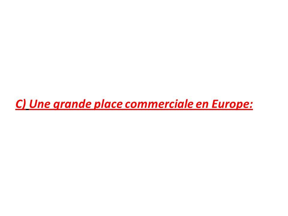 C) Une grande place commerciale en Europe: