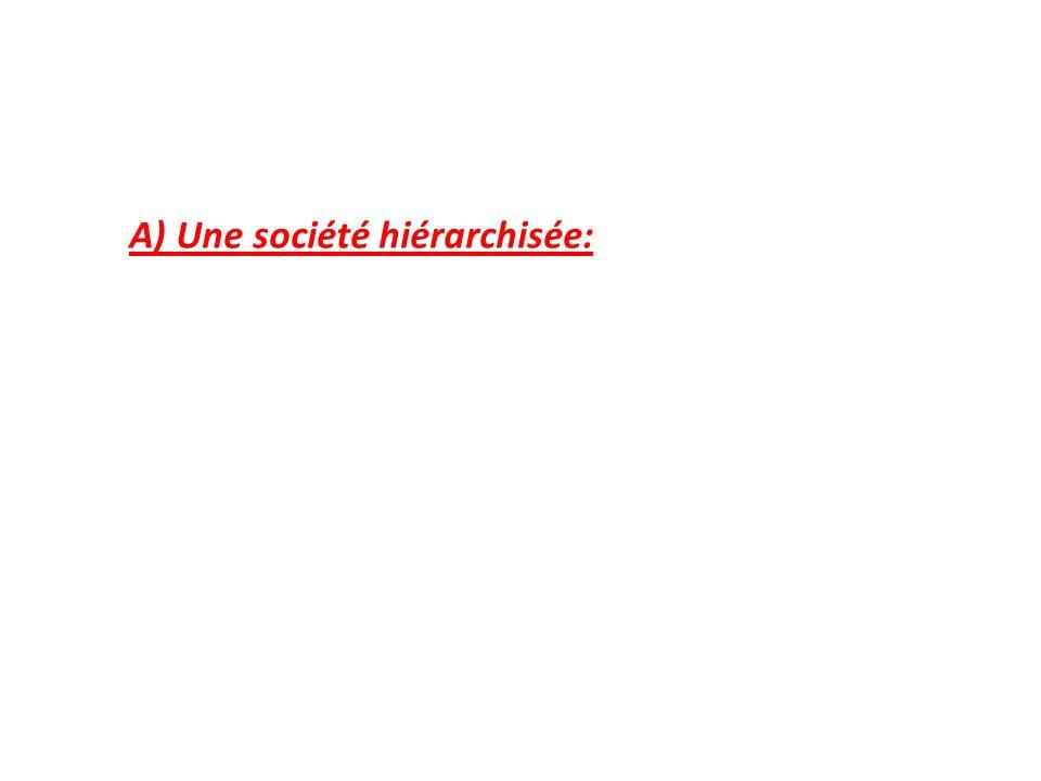 A) Une société hiérarchisée: