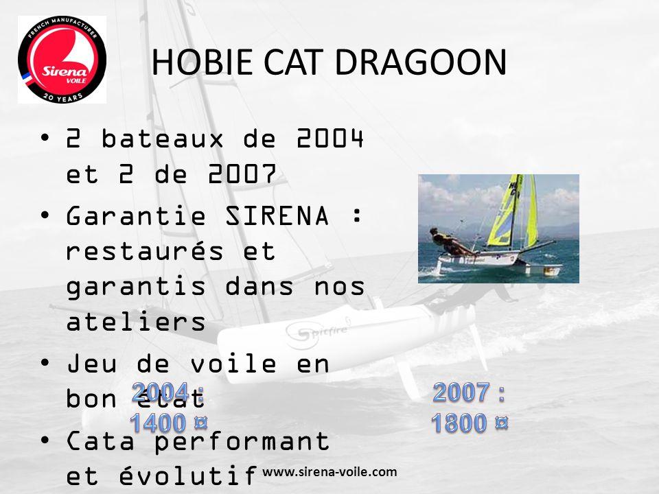 HOBIE CAT DRAGOON 2 bateaux de 2004 et 2 de 2007