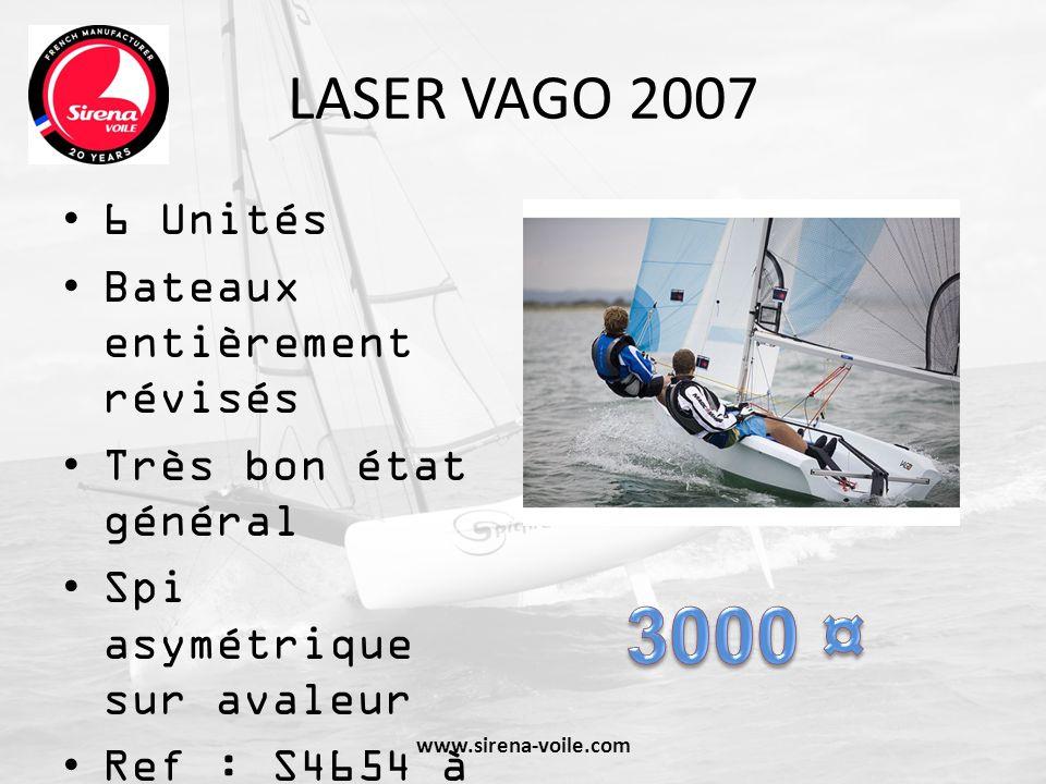 3000 ¤ LASER VAGO 2007 6 Unités Bateaux entièrement révisés
