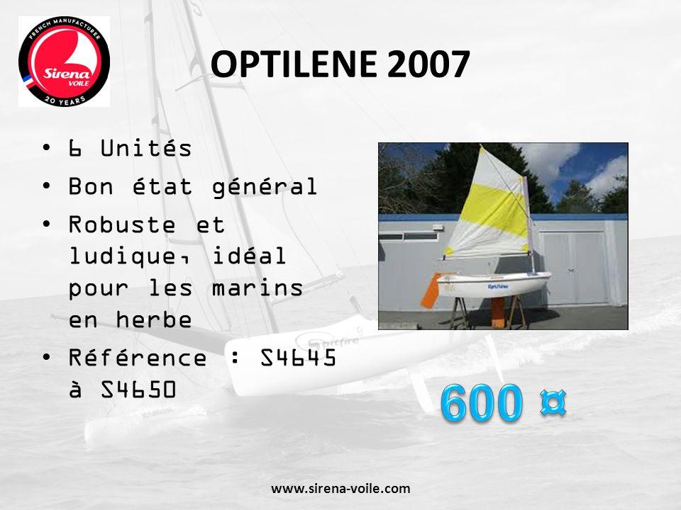 600 ¤ OPTILENE 2007 6 Unités Bon état général