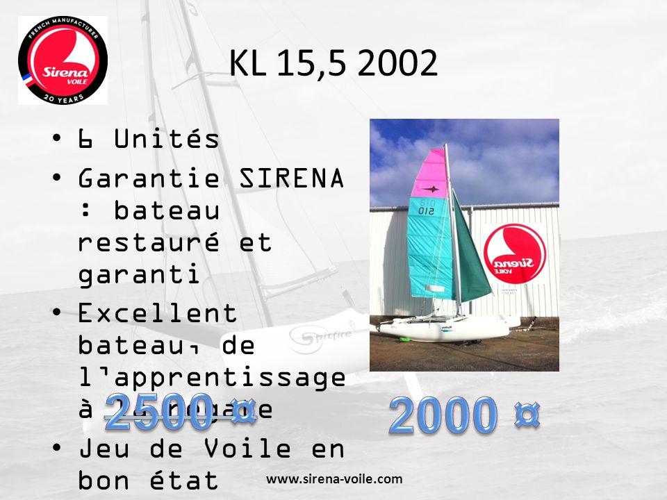 KL 15,5 2002 6 Unités. Garantie SIRENA : bateau restauré et garanti. Excellent bateau, de l'apprentissage à la régate.