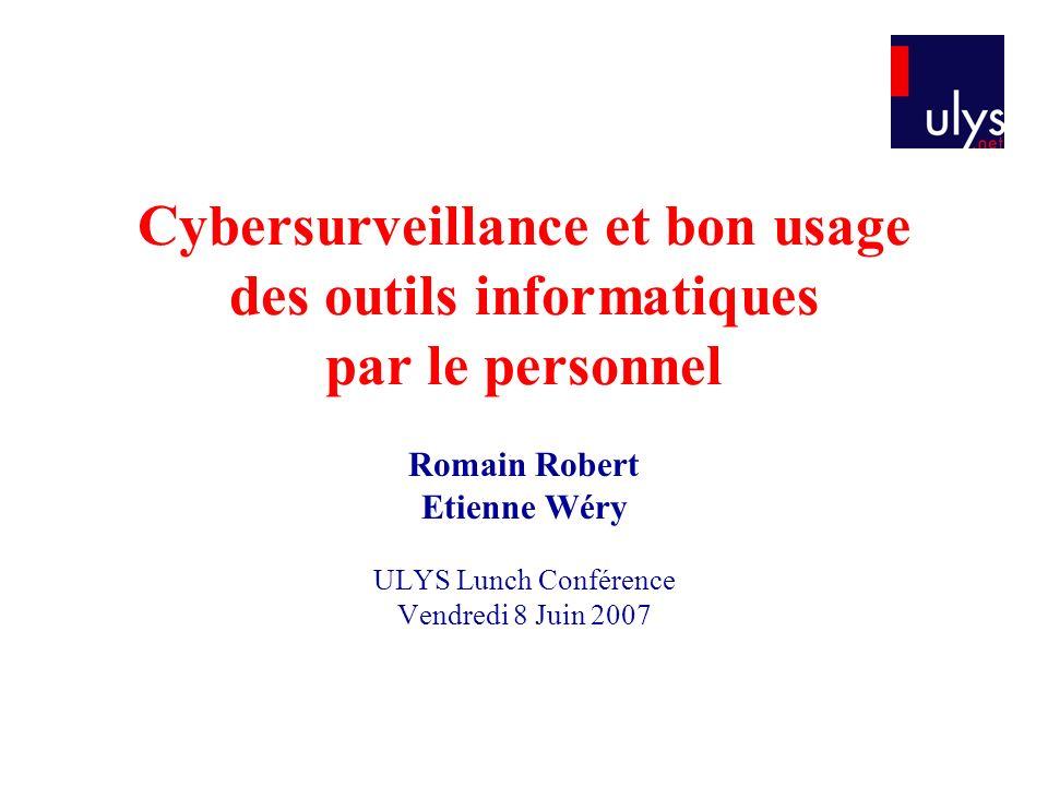 Romain Robert Etienne Wéry ULYS Lunch Conférence Vendredi 8 Juin 2007