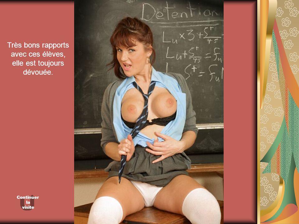 Très bons rapports avec ces élèves, elle est toujours dévouée.