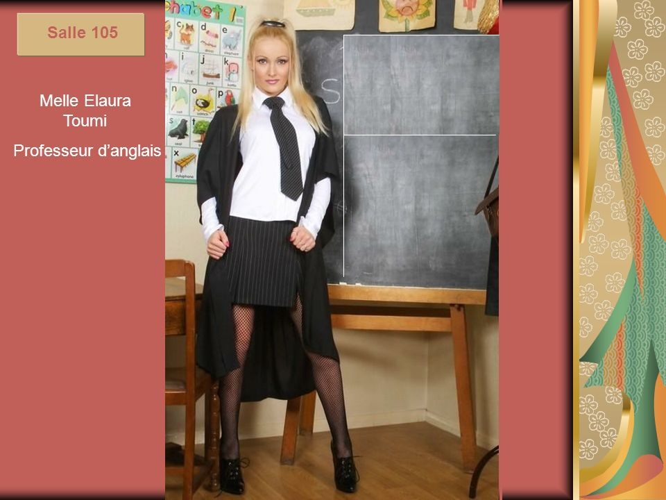 Salle 105 Melle Elaura Toumi Professeur d'anglais