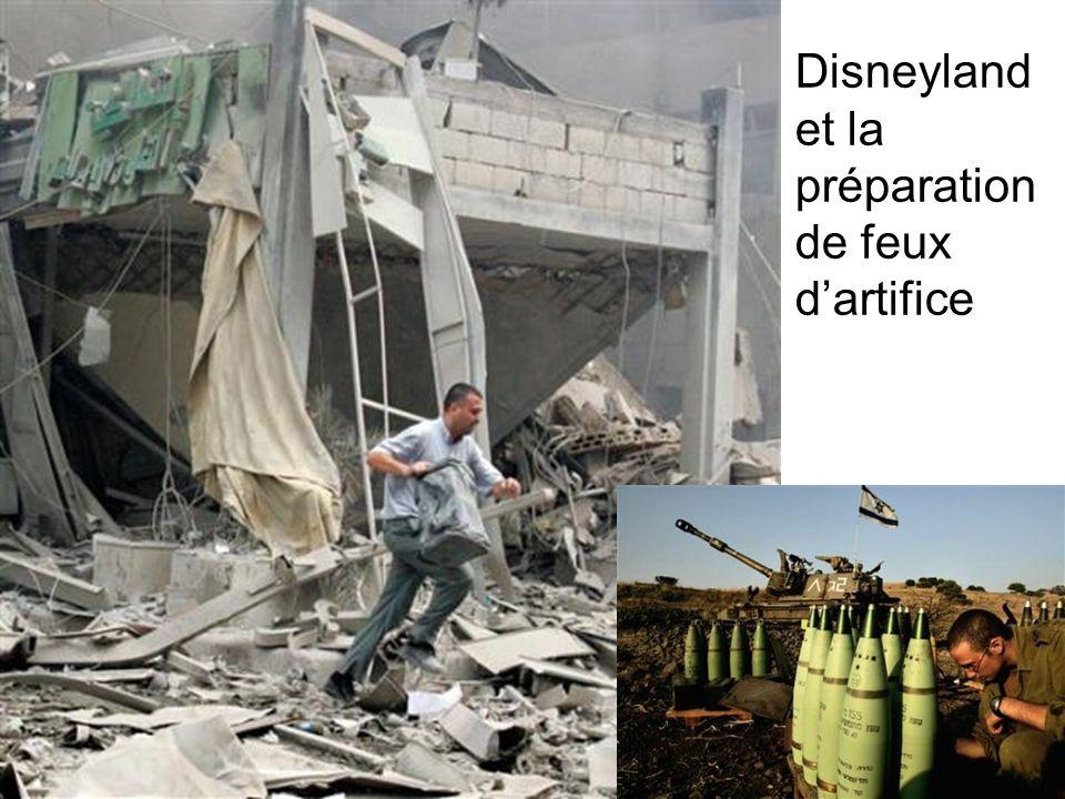 Disneyland et la préparation de feux d'artifice